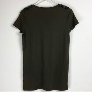 Burberry Tops - Burberry | Embellished shoulder short sleeves tee
